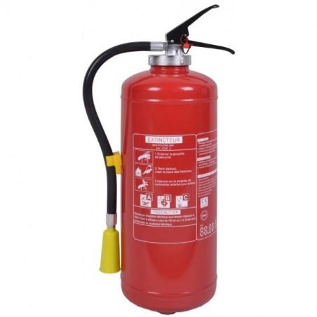 Extincteur poudre polyvalente 9kg-Classe de feu ABCE-Pression auxilaire