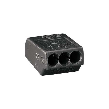 WAGO -  BORNE INDIVIDUELLE ISOLEE GRIS FONCE 3C (1-2,5 MM²)