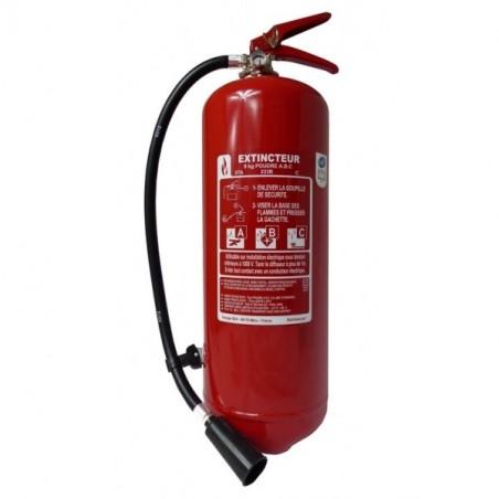 Extincteur poudre polyvalente 9kg-Classe de feu ABCE-Pression permanente