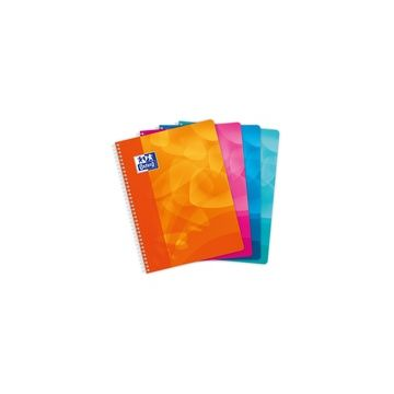 CAHIER RELIURE INTEGRALE POLYPRO 24X32 100 PAGES 90G SEYES OXFORD ASSORTIS