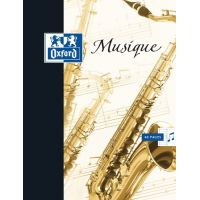 CAHIER OXFORD SCOLAIRE AGRAFE 170X220 48 PAGES 90G SEYES/MUSIQUE