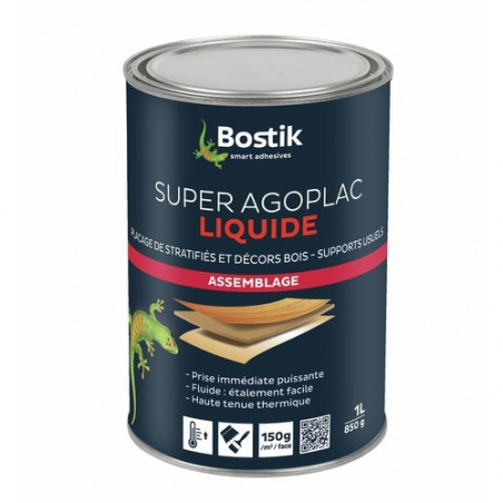 BOSTIK - COLLE NEOPRENE AGOPLAC LIQUIDE 1 LITRES