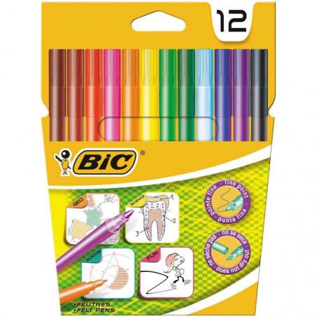 Bic 12 Feutres De Coloriage For School Service Achat Discount