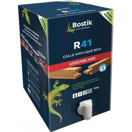 BOSTIK - COLLE VINYLIQUE R41 PRISE RAPIDE CUBI DE 10KG AVEC ROBINET