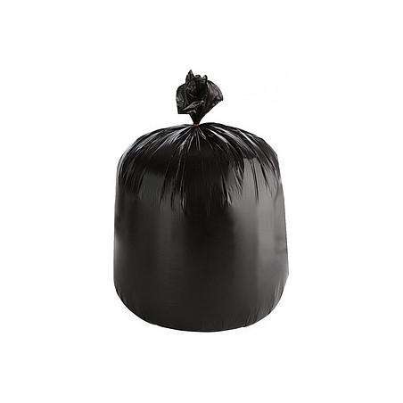 5 Rouleaux de 25 sacs poubelles - 50 L - Noir
