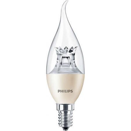 PHILIPS - MAS LEDCANDLE DT 6-40W E14 BA38 CL