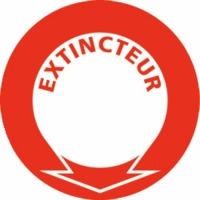 PANNEAU EXTINCTEUR D2000 ROUGE/BLANC