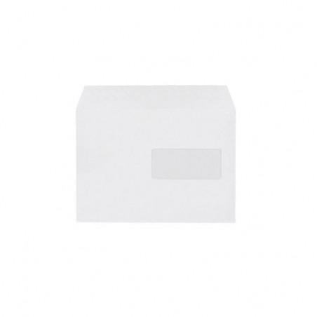 ENVELOPPES BLANCHES 162X224 90G AVEC FENETRE - BOITE 500