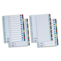 ESSELTE - INTERCALAIRES CARTE ESSELTE - BLANCHE FORMAT A4 - 20 TOUCHES - ALPHABETIQUE