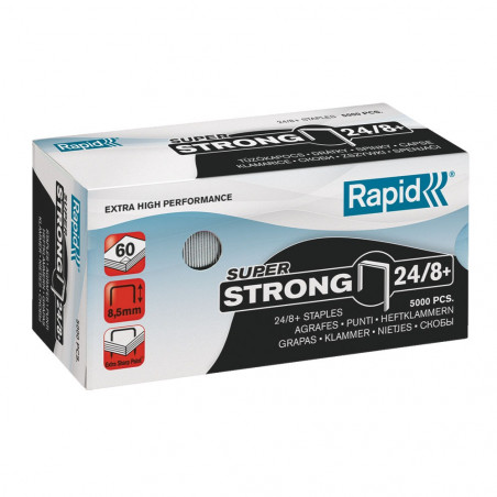 AGRAFES SUPERSTRONG - 24/8+ - BOITE 5000