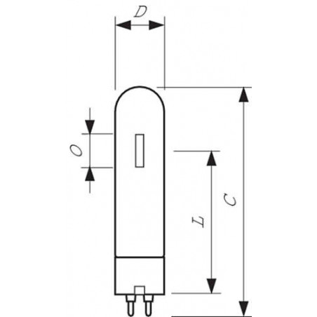 PHILIPS - 50W PG12 BLANC SDW-T DECHARGE SODIUM