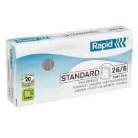 RAPID - AGRAFES STANDARD 26/6 - BOITE 5000