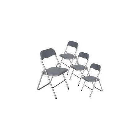 4 Chaises pliantes - Gris