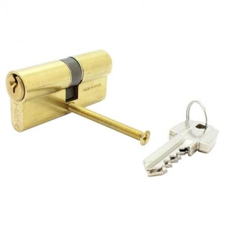 Tesa-Cylindre laiton TE5-2 entrées-40/40-3 clés