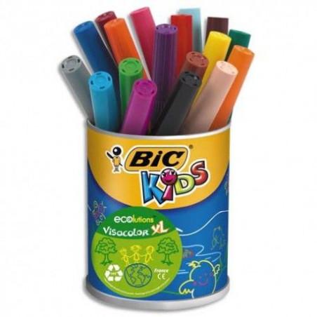 Bic - 18 Feutres Kids Visacolor XL - Couleur assorti