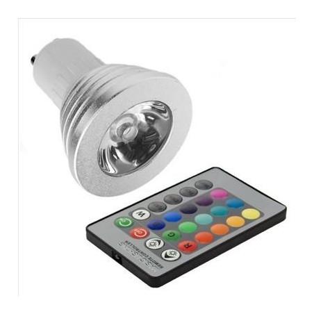 XCSOURCE - Ampoule RGB LED changeable 16 couleurs 5W GU10 + télécommande 24 touches pour Décoration de la maison
