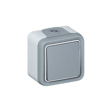LEGRAND - POUSSOIR NO PLEXO COMPLET SAILLIE GRIS - 10 A