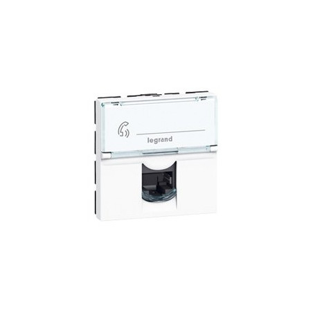 LEGRAND - PRISE RJ 45 MOSAIC - CAT. 6 - FTP - 2 MODULES - BLANC